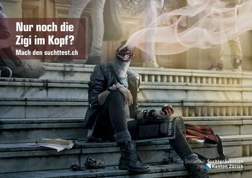 Postkarte Rauchen