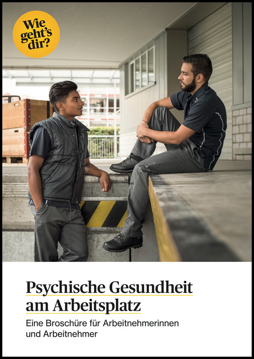 Psychische Gesundheit am Arbeitsplatz. Arbeitnehmende