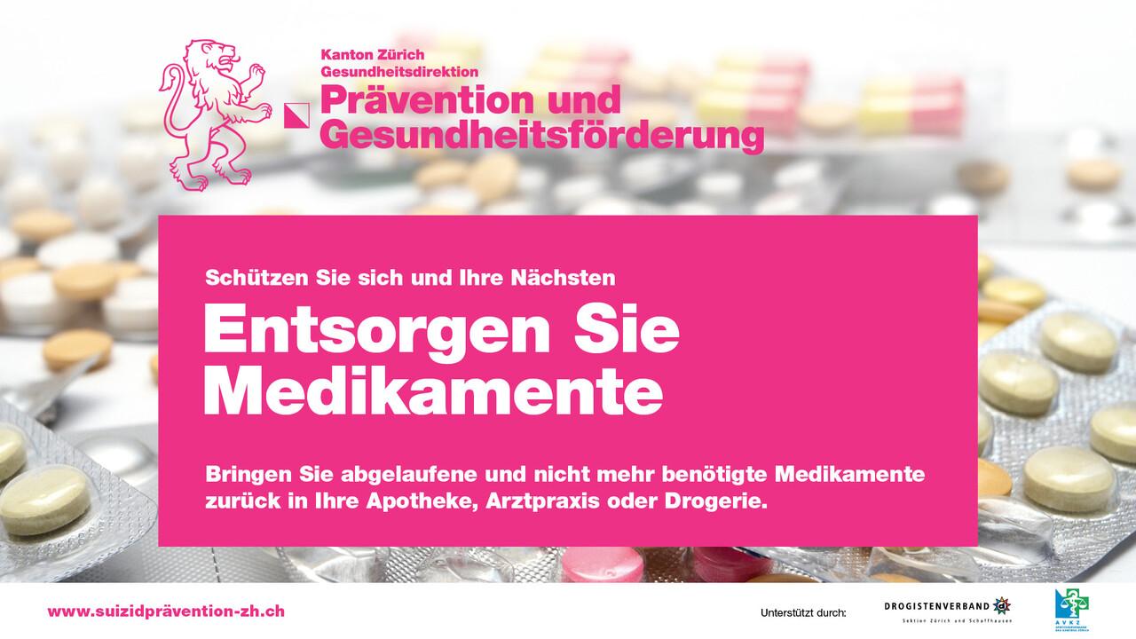 Screenwerbung Medikamentenrueckgabe