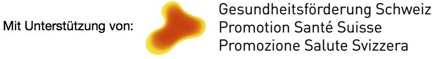 Mit Unterstützung von Gesundheitsförderung Schweiz Logo