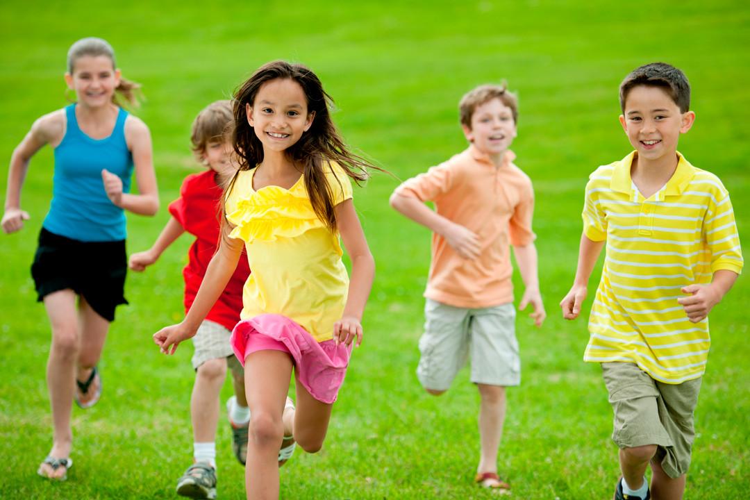 Zümeb Kinder Springen Laufen Joggen