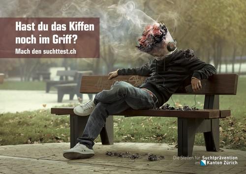 Postkarte Kiffen