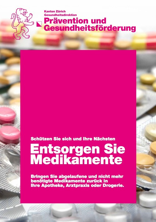 Entsorgen Sie Medikamente