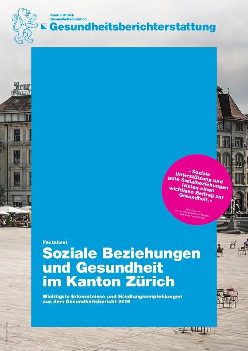 Soziale Beziehungen und Gesundheit im Kanton Zürich